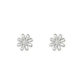 Oorbellen Flower - Zilver