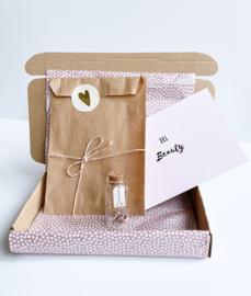 Brievenbuspakket Happy Birthday - Oorbellen Zilver