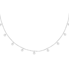 Ketting Floating Coins - Zilver
