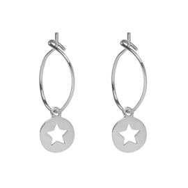 Oorbellen Twinkle Stars - Zilver