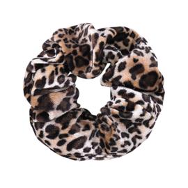 Scrunchie - Leopard Velvet