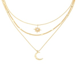 Ketting Chained Star & Moon - Goud