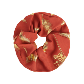 Srunchie - Coral Feather
