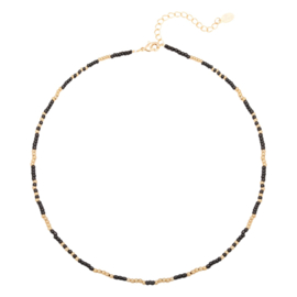 Ketting Mystic Beads - Goud/Zwart
