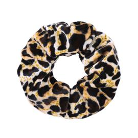 Scrunchie - Sweet Leopard velvet