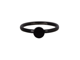 Ring Fashion Seal Medium Black Steel