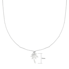 Ketting Palm tree - Zilver