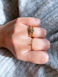 Ring Beauty Gold Steel