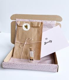 Brievenbuspakket Happy Birthday - Oorbellen Goud