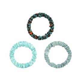 Scrunchie Set - Groen/Blauw