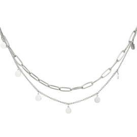 Ketting Chain Circle - Zilver