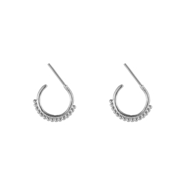 Oorbellen Trendy Dots - Zilver