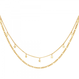 Ketting Double Stars - Goud