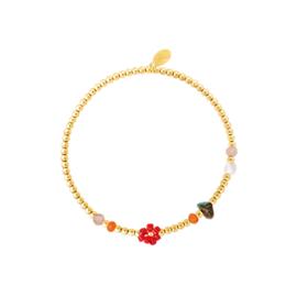 Armband Flower - Rood