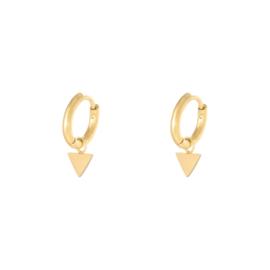Oorbellen Triangle - Goud