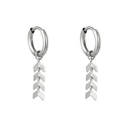 Oorbellen Fishbone - Zilver