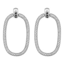 Eline Rosina Door Knocker earrings - Zilver
