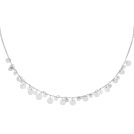 Ketting Floating Circles - Zilver