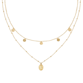 Ketting Mary Go Round - Goud