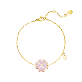 Armband Lucky Heart - Roze goud