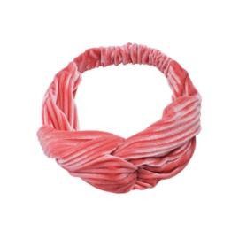 Haarband - Rib Velvet Salmon