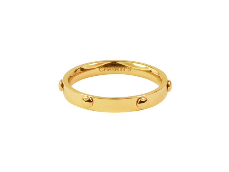 Ring Screw Gold Steel