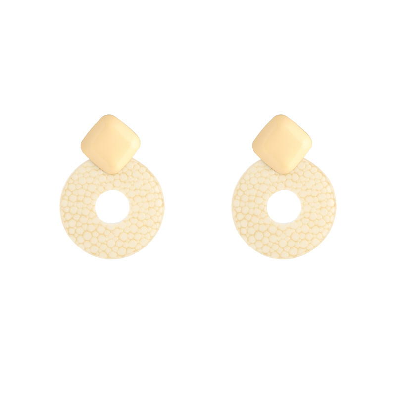 Oorbellen Little Statement - Beige goud