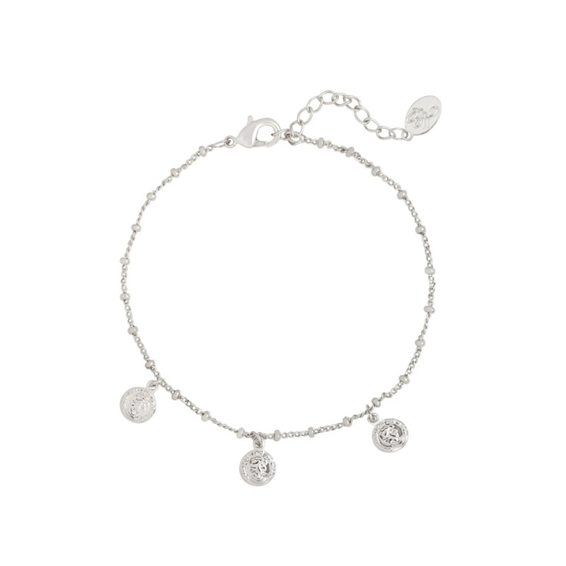 Armband Cute Coin - Zilver