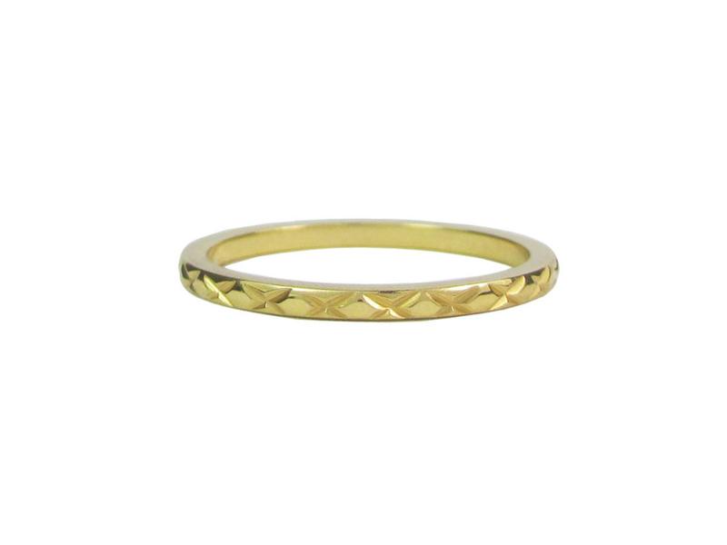 Ring Cross Gold Steel