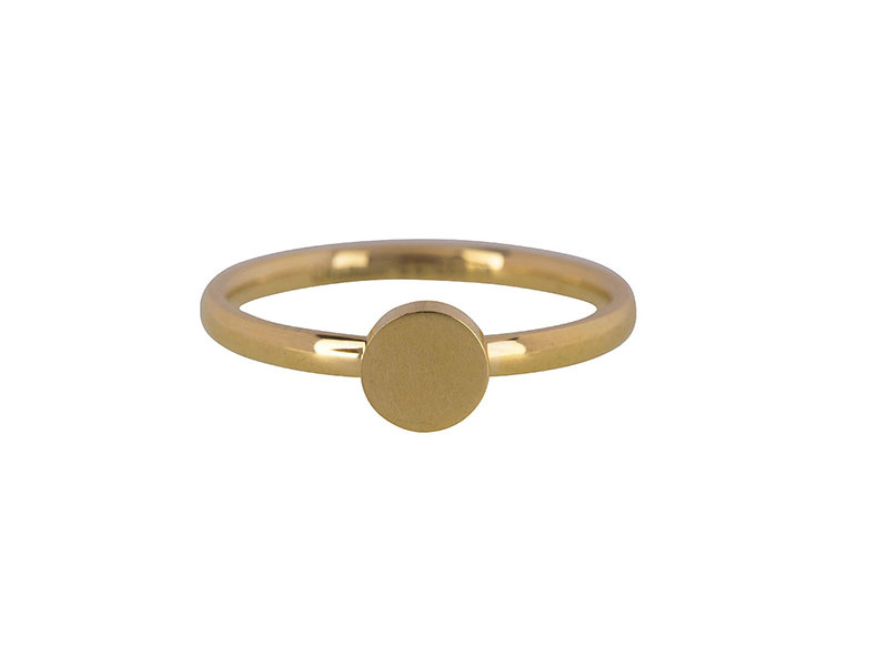 Ring Fashion Seal Medium Gold Steel