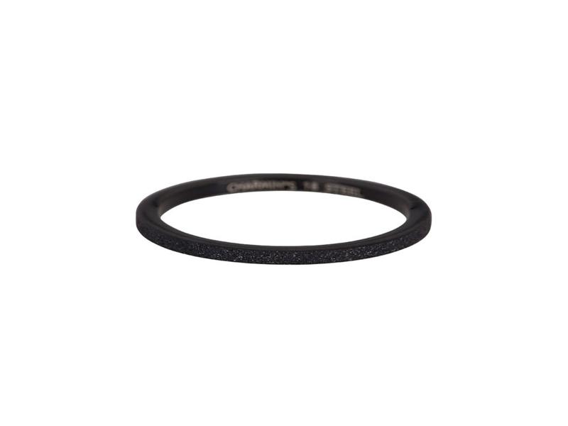 Ring Sanded Black Steel