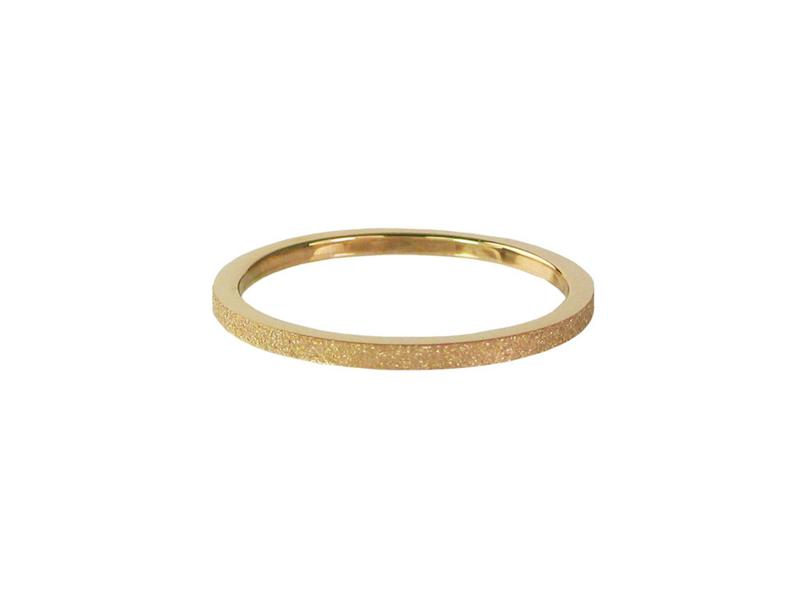 Ring Sanded Gold Steel