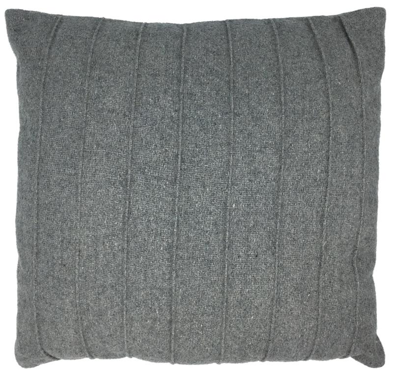 Kussen grijs wol
