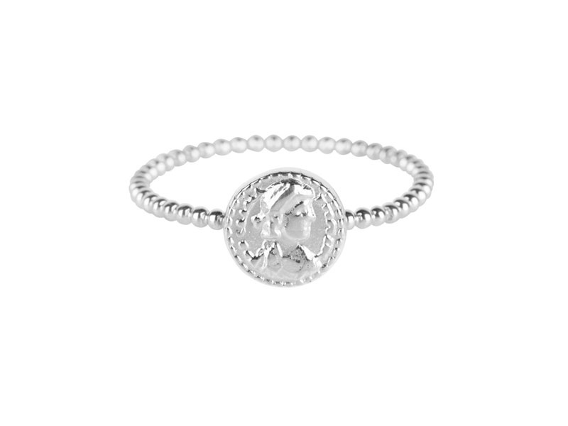 Ring Roman Coin Steel