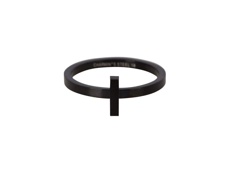 Ring Hope Black Steel