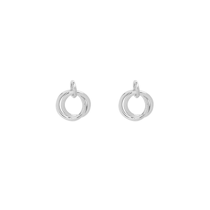 Oorbellen Mini Open Circles - Zilver