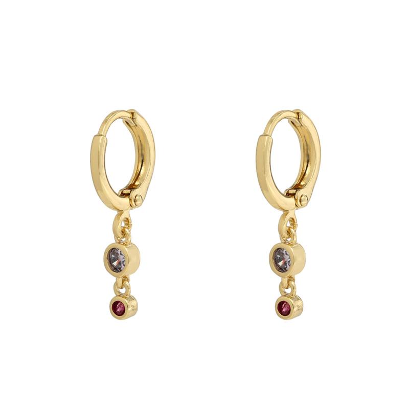 Oorbellen Zirconia Colour Stones - Goud