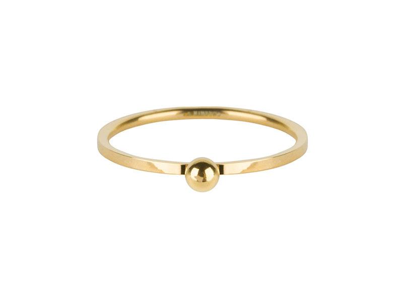 Ring Dot Gold Steel