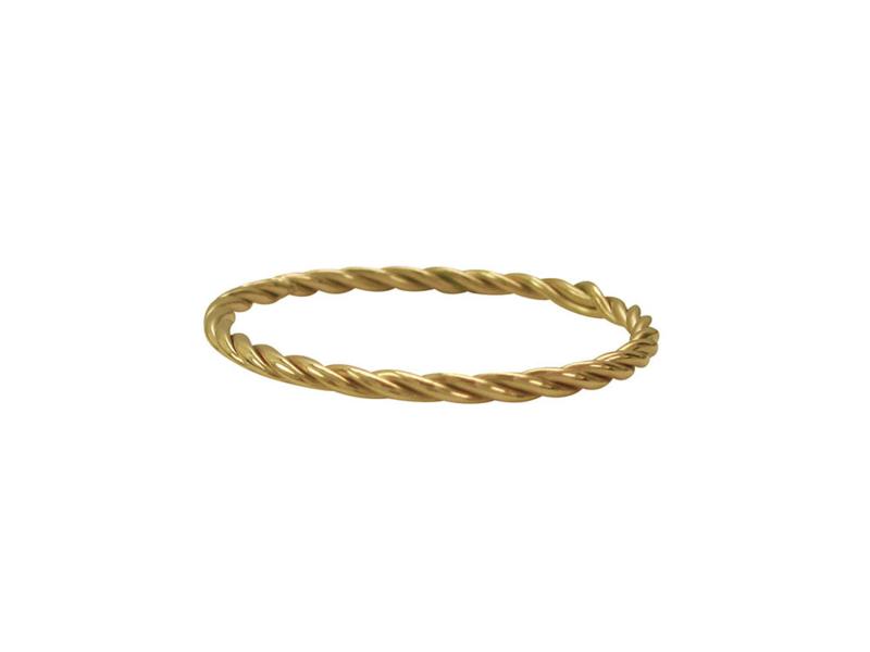 Ring Turning Gold Steel