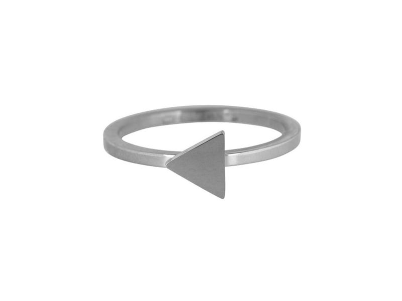 Ring Traingle Shiny Steel
