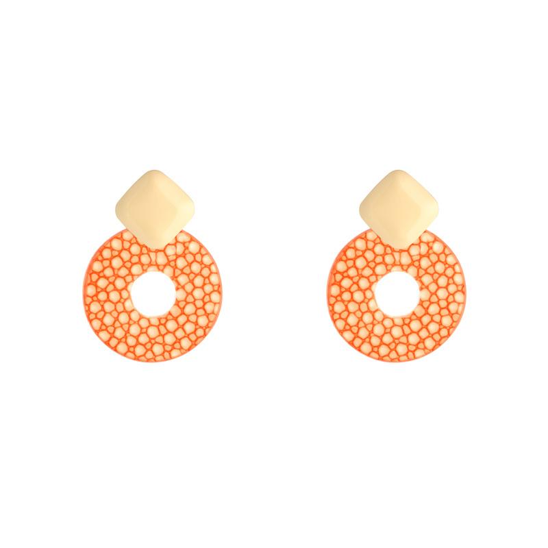 Oorbellen Little Statement - Oranje goud