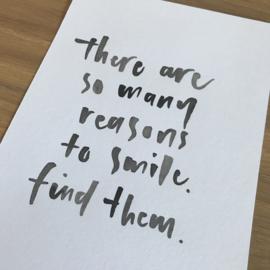 Kaart REASONS TO SMILE