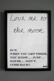 the 'love me to the moon' poster