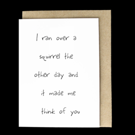 the 'you're so fluffy' card