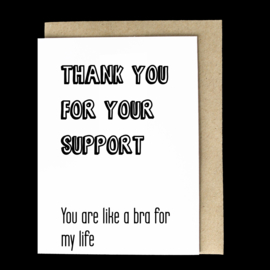 the 'so supportive' card