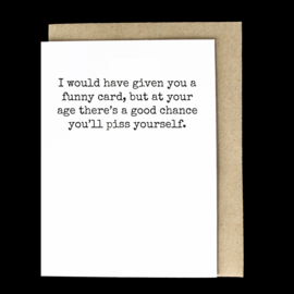 the 'certain age' card