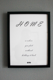 the 'home' poster