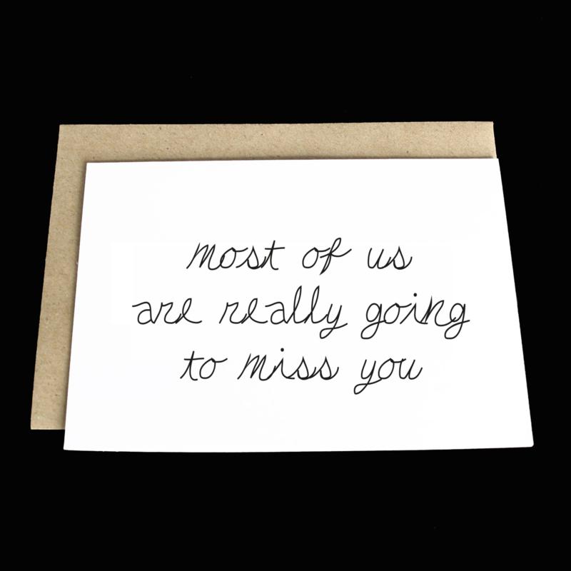 the 'farewell' card