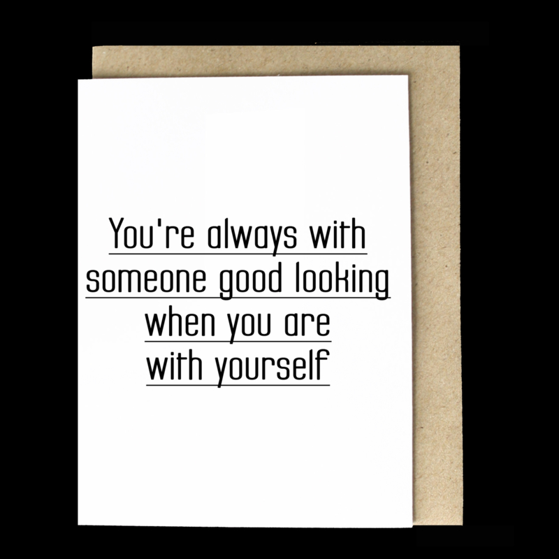the 'except when you're you' card