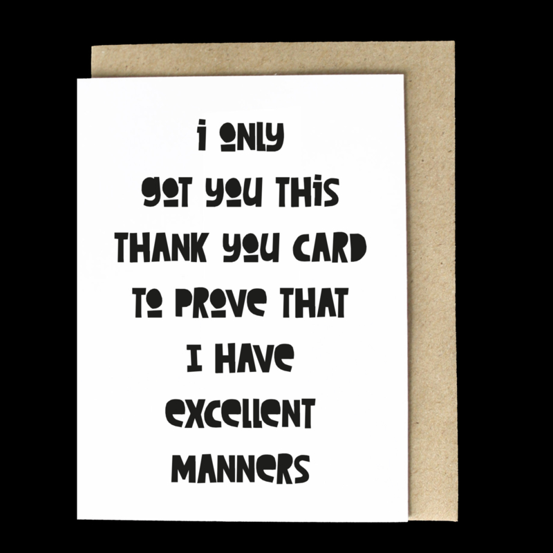 the 'thank you or whatever' card